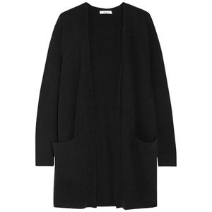 Madewell Black Wool Blend Duster Cardigan